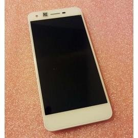 """Оригинальный дисплей 5"""" IPS в сборе с сенсором и рамкой для ZTE A522 Blade White"""