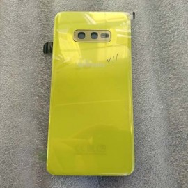 Задняя стеклянная крышка Gorilla Glass для Samsung SM-G970 Galaxy S10e Canary Yellow оригинал