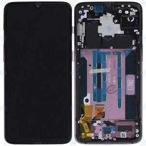 """Дисплей 6,41"""" Optic AMOLED в сборе с сенсором, рамкой и боковыми кнопками для OnePlus 6T Thunder Purple (A6013) оригинал"""
