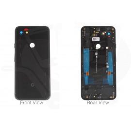 Задняя крышка в сборе со шлейфами, боковыми кнопками и стеклом камеры для Google Pixel 3a XL Black оригинал
