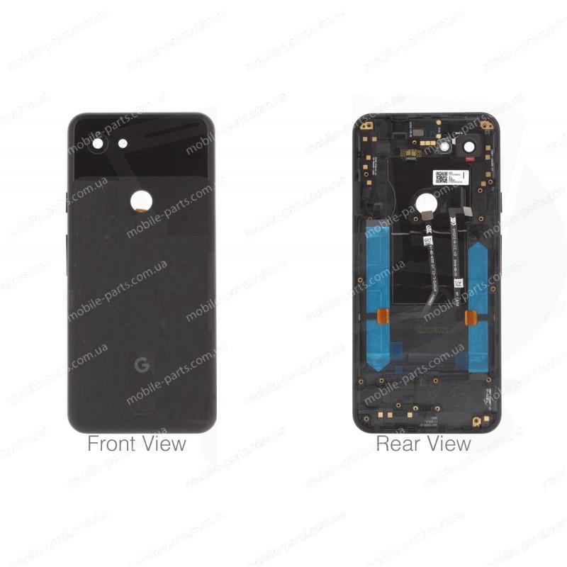 Оригинальная задняя крышка в сборе со шлейфами, боковыми кнопками  и стеклом камеры для Google Pixel 3a Black
