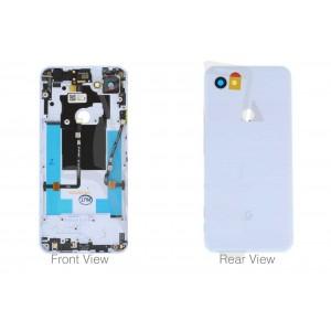Оригинальная задняя крышка в сборе со шлейфами, боковыми кнопками и стеклом камеры для Google Pixel 3a White