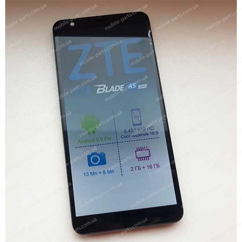 Дисплей в сборе с сенсором для ZTE Blade A5 2019 Black оригинальный