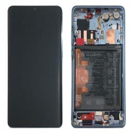 """Оригинальный дисплей 6,47"""" OLED в сборе с металлической рамкой, сенсором, аккумулятором и боковыми клавишами для Huawei P30 Pro (VOG-L29) Breathing Crystal"""