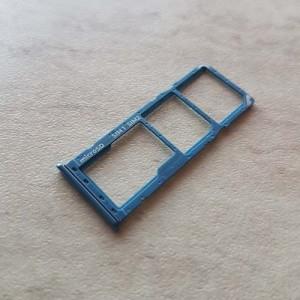 Выдвижной слот (лоток) для SIM карт и карты памяти для Samsung Galaxy SM-A505F A50 2019 Blue оригинал