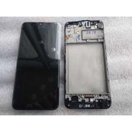 """Дисплей Super AMOLED 6.4"""" в сборе с сенсором, и металлической рамкой для Samsung SM-M307 Galaxy M30s service pack"""