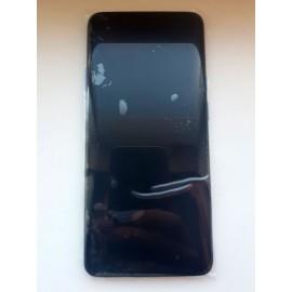 """Дисплей 6,67"""" AMOLED в сборе с сенсором, рамкой и кнопками громкости для OnePlus 7T Pro Haze Blue оригинал"""