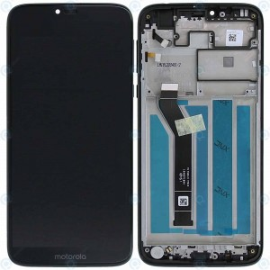 """Оригинальный дисплей 6,2"""" IPS в сборе с сенсором и рамкой для Motorola XT1955 Moto G7 Power Black"""