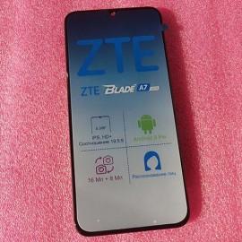 """Оригинальный дисплей 6,08"""" IPS в сборе с рамкой и сенсором для ZTE Blade A7 2019 Black"""