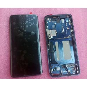 Дисплей 6,67″ Super AMOLED в сборе с рамкой и боковыми кнопками для OnePlus 7 Pro Nebula Blue
