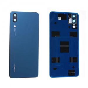 Крышка батареи черная для Huawei P20 EML-L29C Blue оригинал