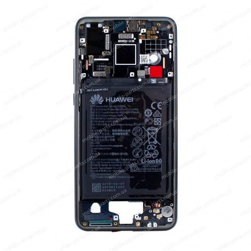 Средняя часть корпуса (шасси +батарея)  Huawei P20 EML-L29C Black оригинал