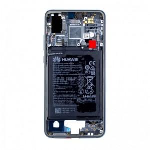 Средняя часть корпуса (шасси +батарея)  Huawei P20 EML-L29C Blue оригинал