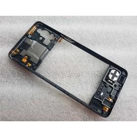 Средняя часть корпуса (рамка) в сборе со сканером отпечатка, антеннами и полифоническим динамиком для Samsung SM-M317 Galaxy M31s Black оригинал