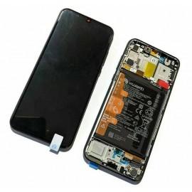 Оригинальный OLED дисплей в сборе с сенсором, рамкой и акб для Huawei P Smart S (AQM-LX1) Midnight Black