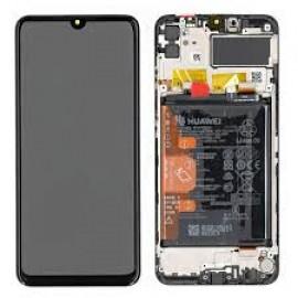 Оригинальный IPS дисплей в сборе с сенсорм, рамкой и акб для Huawei Y6p (MED-LX9) Black