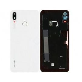 Задняя крышка с линзой и сканером отпечатка для Huawei P Smart Plus (INE-LX1) White оригинал