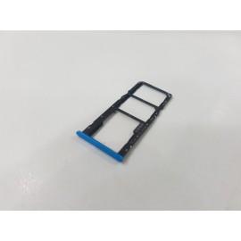 Лоток SIM карты и карты памяти для Realme C3 RMX2020 Blue оригинал