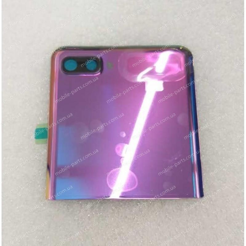 Верхняя крышка в сборе с линзами камеры и маленьким дисплеем для Samsung SM-F700 Galaxy Z Flip Purple Mirror оригинал