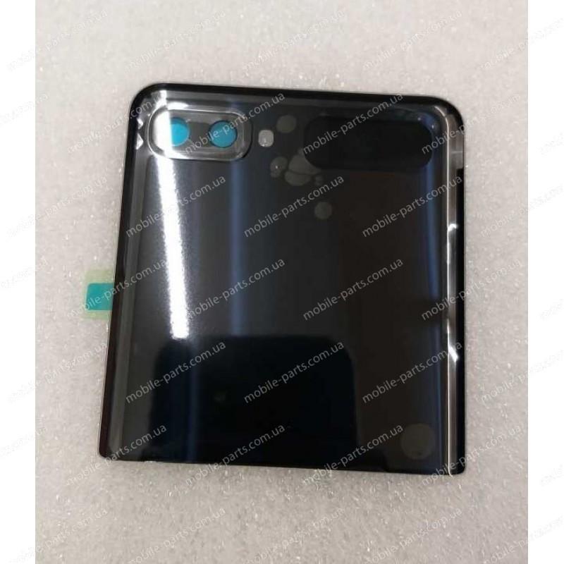 Верхняя крышка в сборе с линзами камеры и маленьким дисплеем для Samsung SM-F700 Galaxy Z Flip Black Mirror оригинал