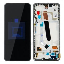 Дисплей AMOLED в сборе с сенсором, боковыми кнопками, динамиком и рамкой для Xiaomi Poco F3 M2012K11AG, K40 Black сервисный