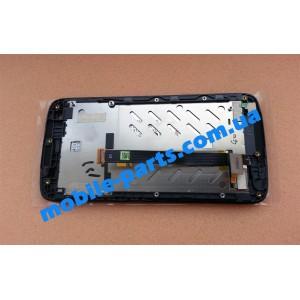 Дисплей в сборе с передней панелью и тачскрином для HTC Desire 326G Dual Sim Black оригинал