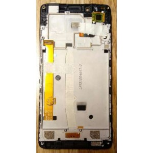 Дисплей в сборе с передней панелью и сенсором для Lenovo A6010 Black оригинал