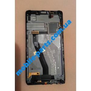 Дисплей в сборе с передней панелью и тачскрином для Lenovo K910 Vibe Z оригинал б/у