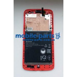 Дисплей с передней панелью и тачскрином для Lenovo S820 красный оригинал