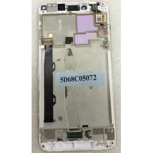 Дисплей в сборе с передней панелью и сенсором для Lenovo K5 Plus White оригинал