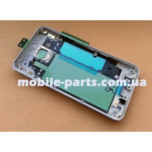 Средняя часть корпуса(основа) для Samsung SM-A300 Galaxy A3 Silver оригинал