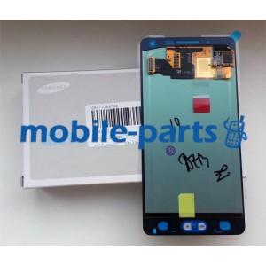 Дисплейный модуль (сборка дисплея и тачскрина) для Samsung SM-A500 Galaxy A5 Duos черный оригинал